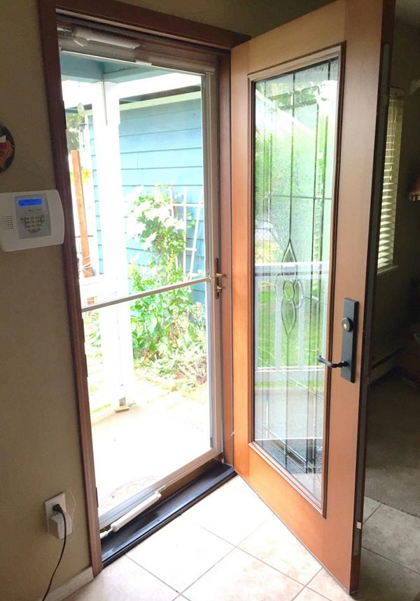 Entry Door With Storm Door